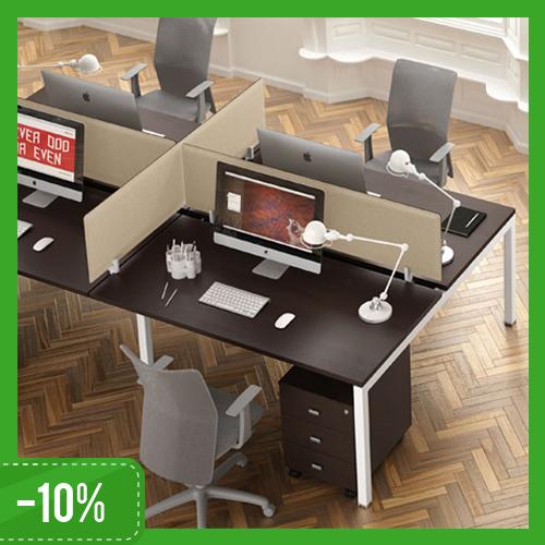 Scrivania Swing 5050 4 Postazioni Con Softscreen Salone Ufficio Bologna
